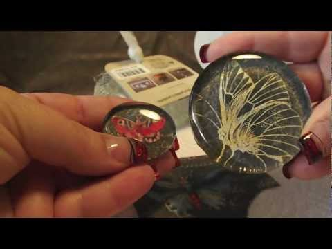Butterfly Glass Magnet Tutorial