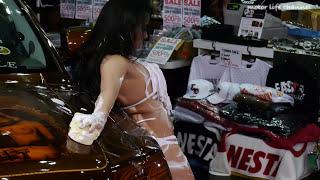 Repeat youtube video エロすぎるセクシー洗車ダンス②東京オートサロン2013  Sexy Car Wash AT Tokyo Auto Salon 2013 Models