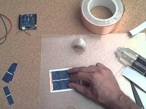 Solar power your arduino with a playing card