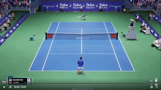 Novak Djokovic vs Malek Jaziri - Dubai Open AO tennis 2 PS4