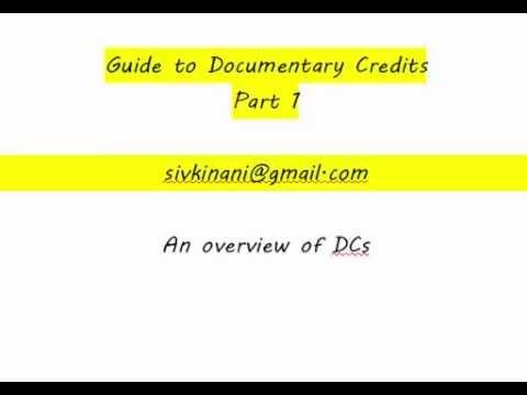 Documentary Credits Guide 1&2