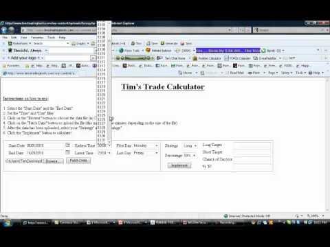 Tim's Trading Calculator Training Video #1