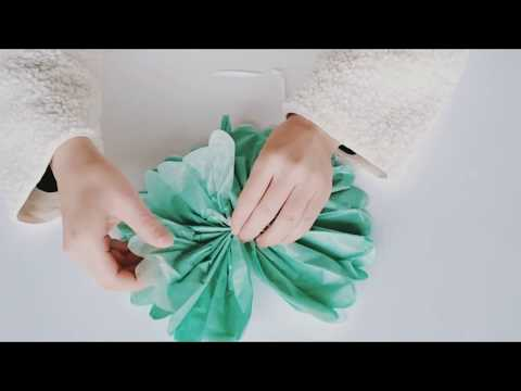 How To DIY Make Tissue Paper Pom Poms Flower for Party Decoration