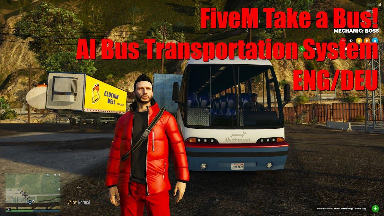 FiveM Take a Bus! AI Bus Transportation System ENG/DEU