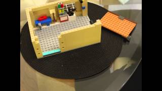 Lego Simpson - Building The Garage (time-lapse)