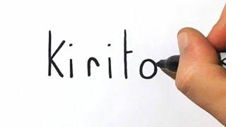How to Turn Name Kirito into Sword Art Online Kirito!  Word Toons #20