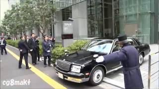 平成29年 天皇皇后両陛下 御料車列 JPタワー