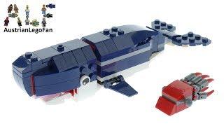 Lego Creator 31088 Whale Deep Sea Creatures Speed Build