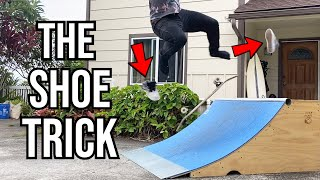 LANDING A TRICK WHILE MY SHOES…