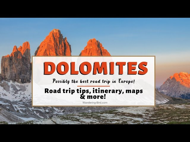 Visiting The Dolomites Pt 1- Driving the Great Dolomites Road- Italy in a motorhome tour