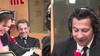 La chronique de Laurent Gerra devant Nicolas Sarkozy (réalisation Gaya Bécaud) - RTL - RTL