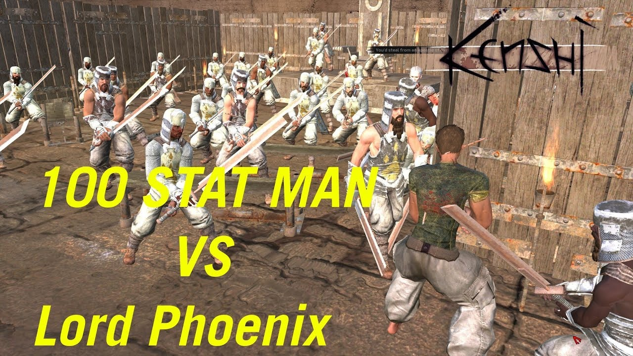 Kenshi - 100 Stat Man Vs Lord Phoenix - wetube24 com