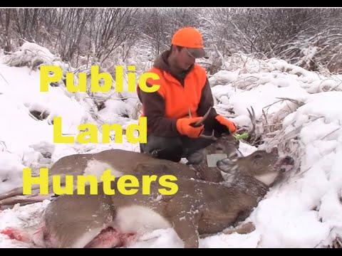 Wisconsin deer hunting Rifle Season 2014 Public Land - YouTube