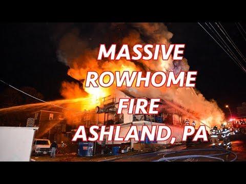 3+ Alarm Fire Destroys Popular Sub Shop And Homes - Ashland, PA - 03/24/2019