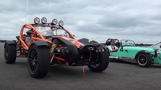 Ariel Atom 3 5 vs Ariel Nomad vs BAC Mono vs Caterham 620S   Top Gear  Drag Races