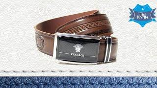 Мужской ремень брендовый коричневый  Lazar купить в Украине. Обзор