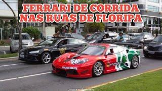 ESCOLTANDO UMA FERRARI DE CORRIDA PELAS RUAS DE FLORIPA - CVBR #281