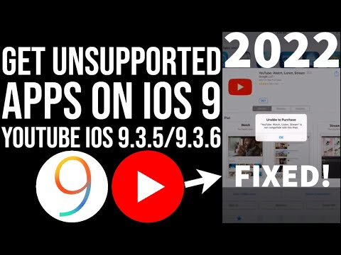 Install Unsupported apps on iOS 9.3.5 | Fix iOS 9.3.5 YouTube not compatible | Mini1/iPad2/iPhone4S