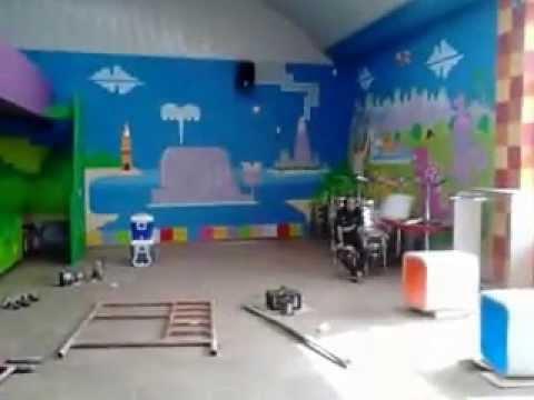 Pintura mural en salon de fiesta youtube - Pinturas de salon ...