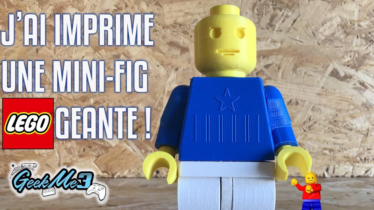 impression 3d j ai imprime une mini figurine lego geante