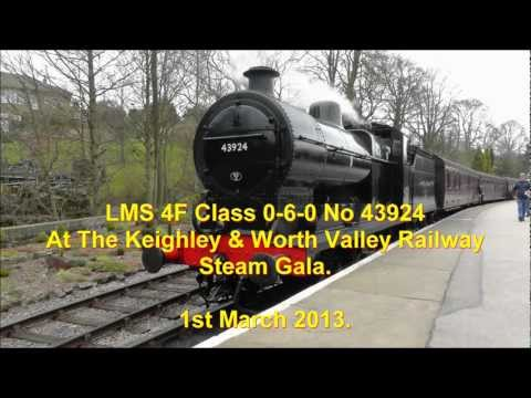 LMS 4F Class 0-6-0 Steam Loco No 43924 at The KWVR Steam Gala - 1st Mar 2013
