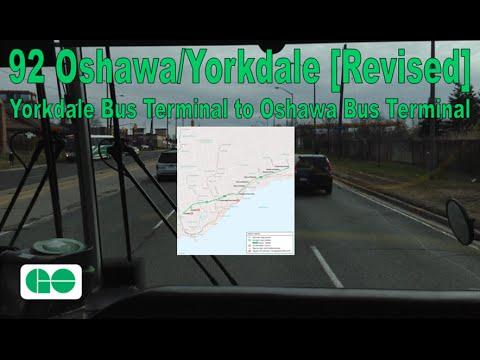 92 Oshawa/Yorkdale - GO Transit 2006 MCI D4500CT 2299 (Yorkdale Term. to Oshawa Term.) [Revised]