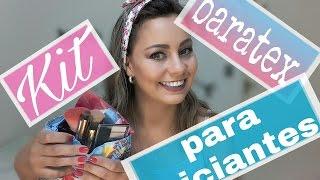 Kit de maquiagem para iniciantes - produtos baratex/ por Alinne Tavares