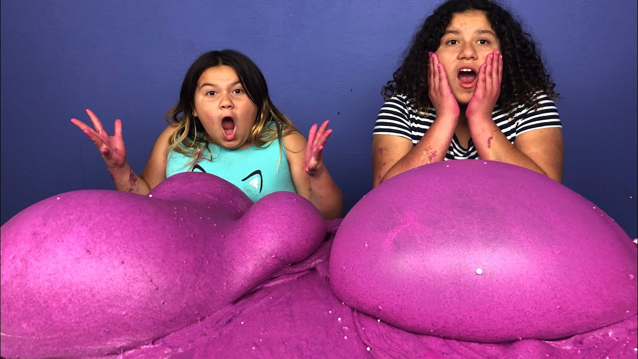 Slime Master Mary And Izzy: ADDING TOO MUCH INGREDIENTS INTO SLIME! Adding Too Much Of