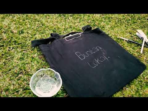 Painting custom ToteBag (Quotes on Tote bag) - Melukis custim totebag