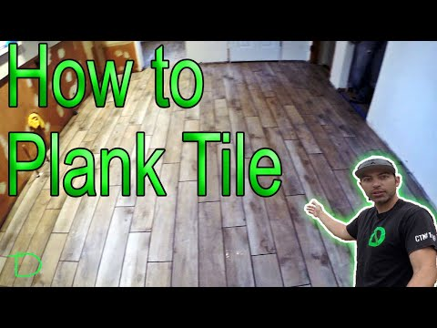 How to install 6x36 Plank Tile