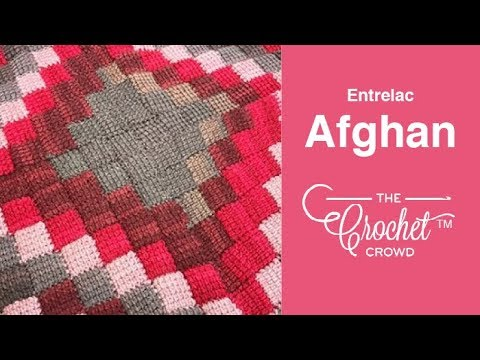 How to Crochet Entrelac Afghan: 🍰  Caron Cakes