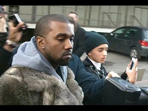 Kanye West à Paris January 2014 FASHION WEEK Défilé Givenchy Show France