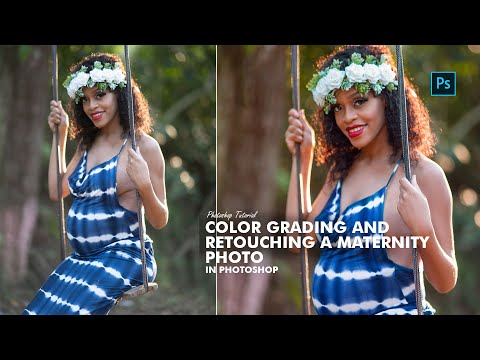 Color Grading And Retouching A Maternity Photo - Photoshop Tutorial