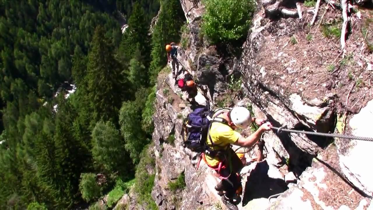 Klettersteig Umhausen : Klettersteig stuibenfall im Ötztal youtube
