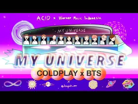 COLDPLAY X BTS - MY UNIVERSE (VISUALIZER VIDEO)