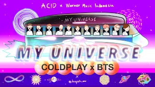 Coldplay X Bts My Universe Visualizer