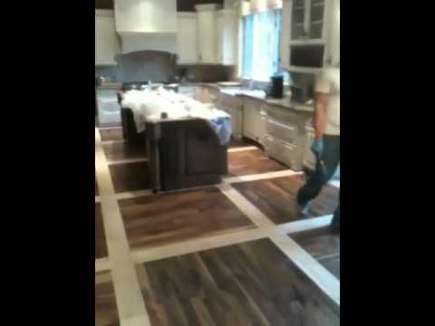 Walnut and white oak floor, Barrington, Il. Excel Floors