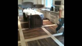 Walnut And White Oak Floor, Barrington, Il. Excel Floors