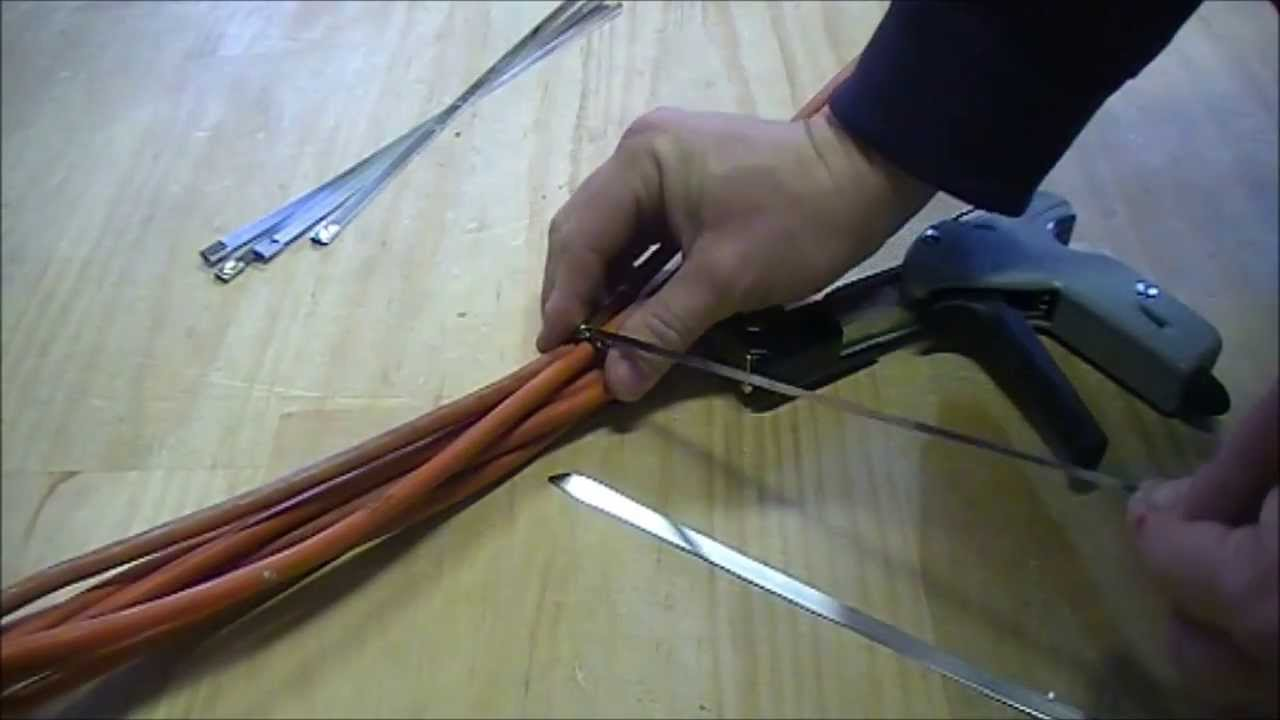 Stainless Steel Cable Tie Guns Youtube