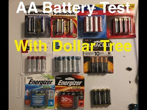 AA Battery Test, Dollar Tree Etc. With Graphs And MAh Ratings! Part 1