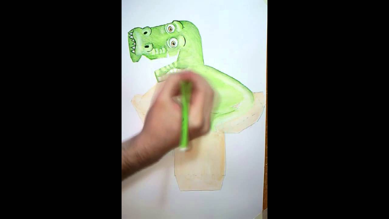 how to make t rex illusion