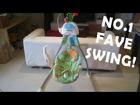 Fisher-Price Open-Top Rainforest Cradle Swing Review - Kids Indoor Swing Test