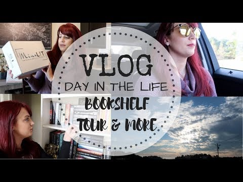VLOG | Author Day-In-The-Life | Bookshelf Tour + P.O. Box Haul