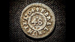 Vier alte Silbermünzen gefunden!! - Sondeln - XP Deus Metaldetecting Gebrüder Lange