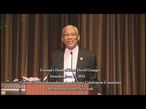Guyana's Head of State David Granger 2016 NY