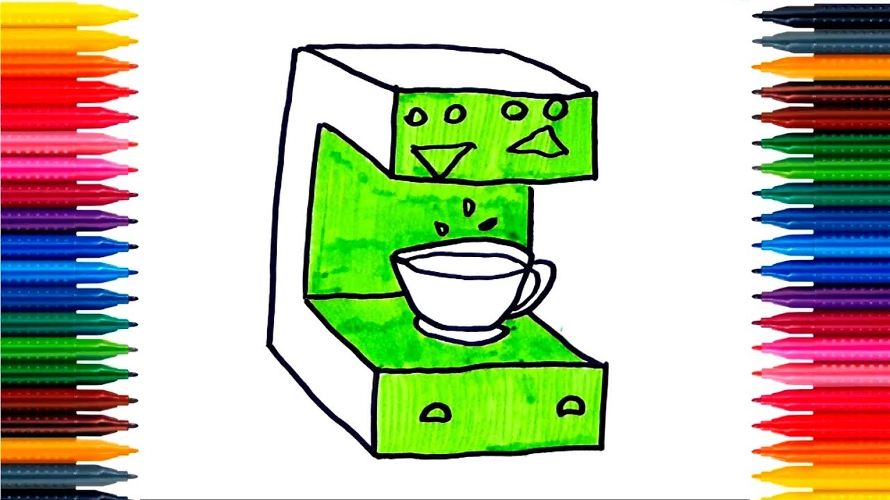 How To Draw Coffee Maker Coffee Maker Coloring Pages Coffee
