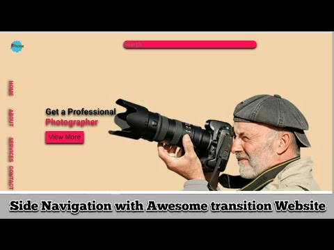 Side Navigation Menu with Awesome transition website|Html|Css|Responsive|Easy Tutorial thumbnail