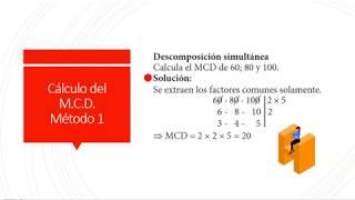 MCM y MCD