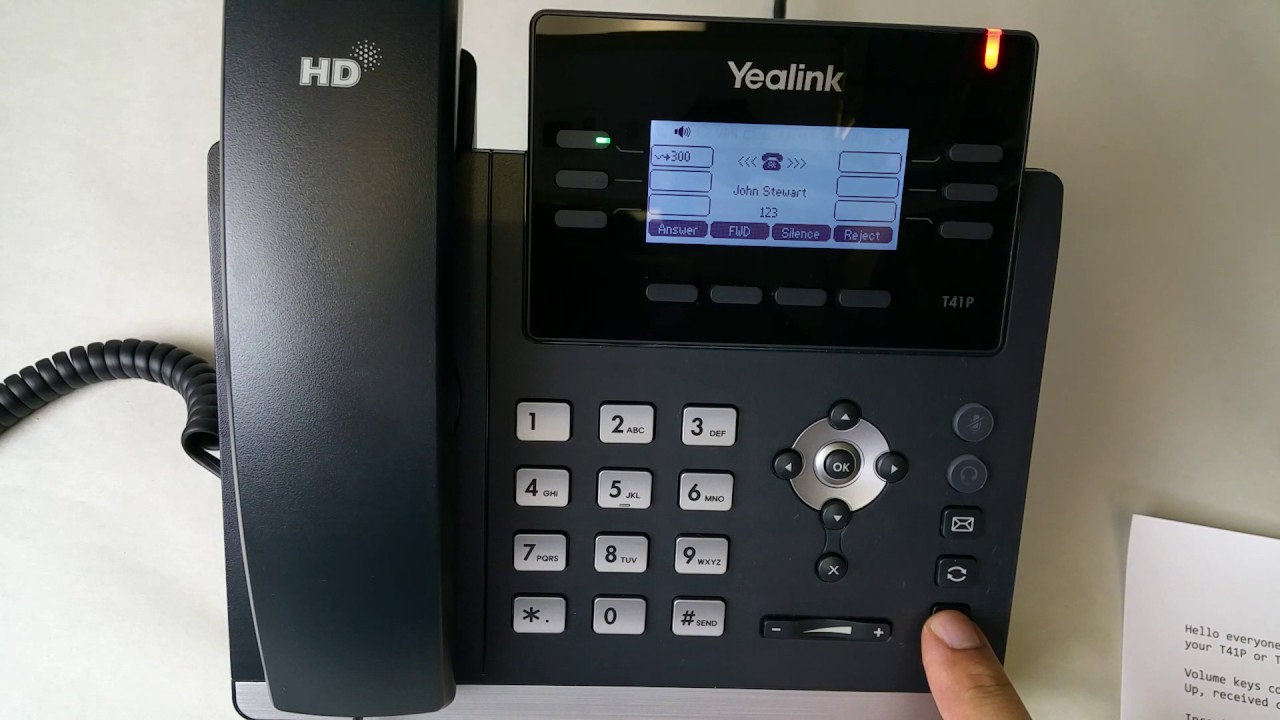 Yealink T41P & T42G Phone User Guide Videos - Fastmetrics
