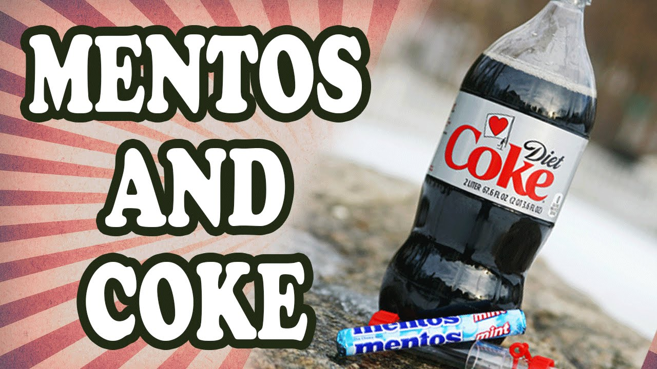 why does diet coke react to mentos